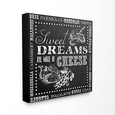 The Stupell Home Decor Collection Sweet Dreams Made of Cheese Chalkboard