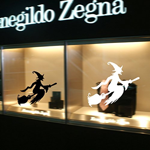 INOVEY Hallowen Showcase Fenêtre Verre Decor Mural Autocollant Parti Maison Maison Décoration Créative Ed - Blanc