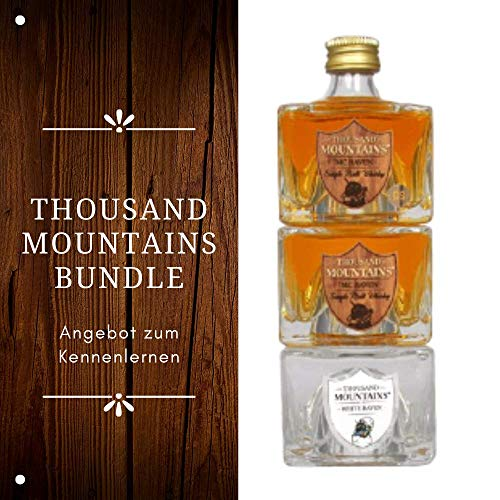 THOUSAND MOUNTAINS BUNDLE - Single Malt Whisky - tolles Geschenk