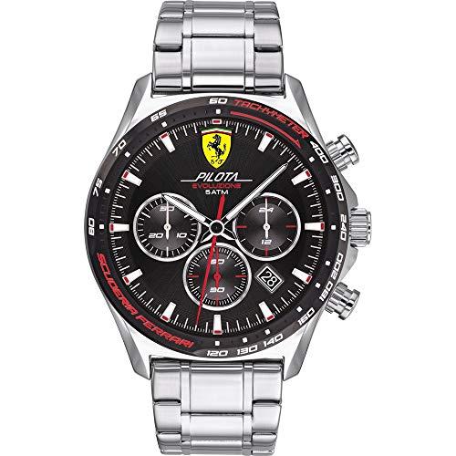 Scuderia Ferrari Reloj para de Cuarzo con Correa en Acero In