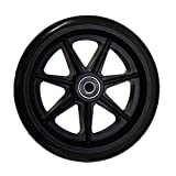 Stander Walker Replacement 6' Wheels - For the EZ Fold N' Go Walker and Able Life Space Saver Walker, set of 2, Black