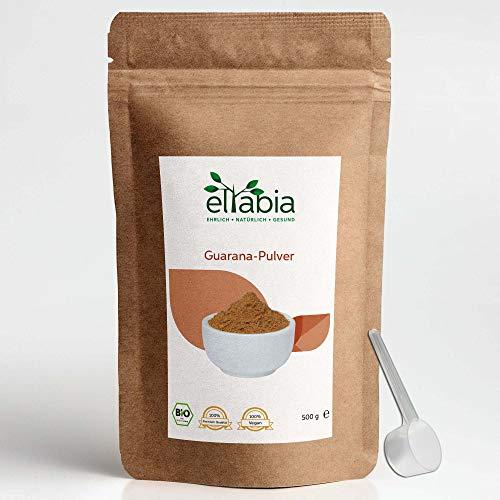 Eltabia Bio Guarana Pulver 500g Großes Pack aus kontrolliert biologischen Anbau, 100% rein, natürliches Koffein