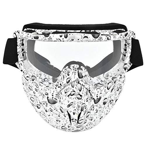 Gafas Anti-Niebla con Máscara De Gafas A Prueba De Viento Protectoras con Banda Elástica para Motocicletas (Lente Transparente)
