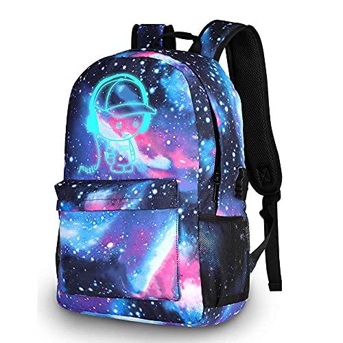 Galaxy Mochila Luminosa,Mochilas Escolares, Anime Bolso De Escuela