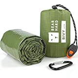 Bearhard Saco de dormir de emergencia para acampada, senderismo y refugio de emergencia [vivac verde -12x7.5x6.5cm ]
