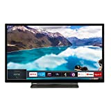 Toshiba 24WL3A63DB 24-Inch HD Ready Smart TV with Freeview Play - Black/Silver
