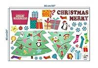 ASDSH ウォールステッカー クリスマスス サンタ 雪 x-mas xmas christmas シール 壁紙 インテリア 部屋 クリスマス 飾り ガラス 窓 DIY オーナメント パーティ 飾りつけ ツリー