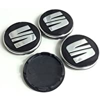4x 56mm Seat Emblema Mediados Nabe tapas nadadores Logo cubierta Ibiza Leon 5F0601171