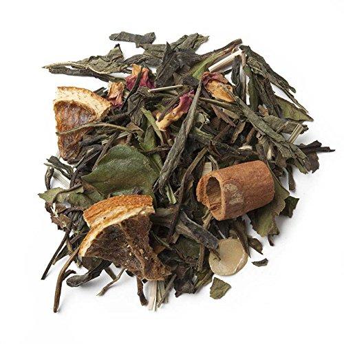 Aromas de Té - Té Verde Y Blanco Andalusí - Con Trozos de Canela, Lemongrass, Almendra, Naranja y Capullos de Rosa - Para Deleitar los Sentidos y Disminuir el Estrés - 75 gr