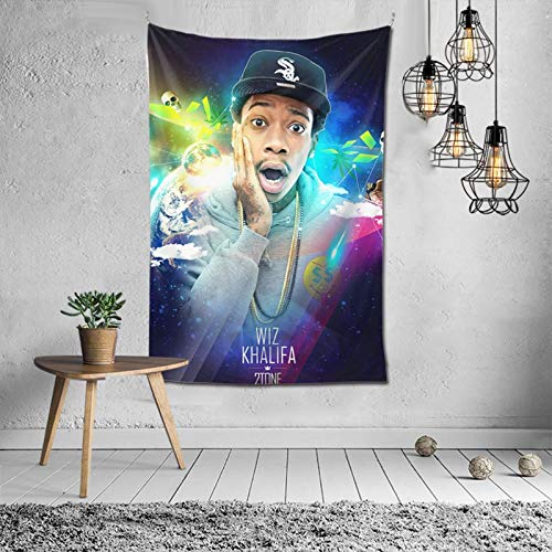 PPDDMAOYI Wiz Khalifa Wall-Mounted Tapestry Family Decoration Bedroom Living Room Dormitory Tapestry 6040inch