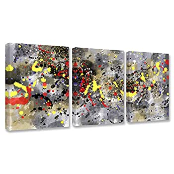 Graffiti Wall Art - Abstract Painting Modern Home Art Stretched and Framed Ready to Hang - 12 x16 x3 Panels