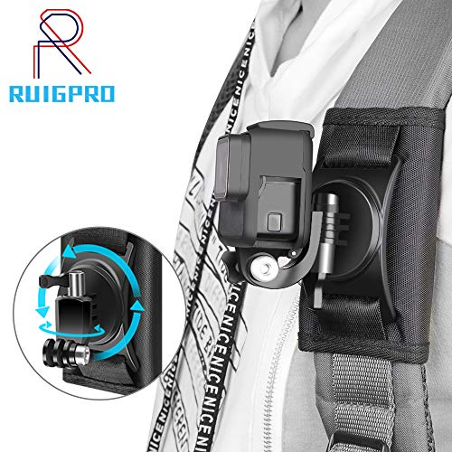 RUIGPRO Update Sport Camera Backpack Clip Mount 360 Degree Rotary for Xiaomi Yi for Gopro Hero8 7 6 5 4 Action Camera Accessories