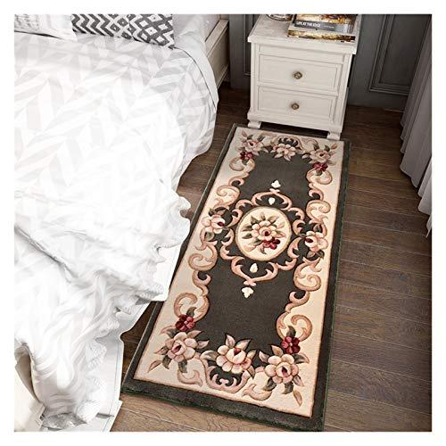 Lana bien tejida noble camello rojo alfombra / colchoneta floral oriental oriental área tradicional de la alfombra larga y fácil limpiar moderno moderno contemporáneo blando salón comedor alfombras 03