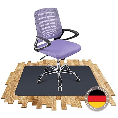 SCHMIEDWERK Bodenschutzmatte farbig   Bürostuhl Unterlage   Kratzfest   Made in Germany (Anthrazit, 90 x 120 cm)