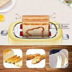 Barir Grille-pain à 2 tranches, petit déjeuner maison machine a Annuler/Defrost et Réchauffer Fonction, Slide Out Tiroir ramasse-miettes, Grille-pain Grille-pain 680W Accueil