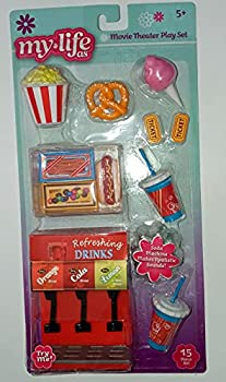 My Life As 18 Inch Doll Movie Theater Play Set Soda Machine Candy Popcorn Accessories
