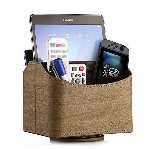 EasyAcc Fernbedienung Storage Rack PU-Leder Desktop Storage Container 5 Compartments für Smartphone iphone 7/6 / 6 plus / 5 / SE Samsung Galaxy S8 S8 Plus CD-Halter Rack Braun