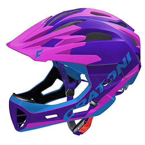 Cratoni C-Maniac Limited Edition Allmountain 2018 - Casco de descenso, 58-61 cm, color morado, rosa y azul