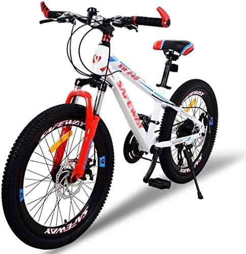 LIUCHANG Vélos Enfants Vélo de Montagne École Primaire secondaire Route extérieur Garçon Fille de vélos à Double Disque de Frein Amortisseur vélo (Couleur: Jaune, Taille: 22inch) YCLIN liuchang20