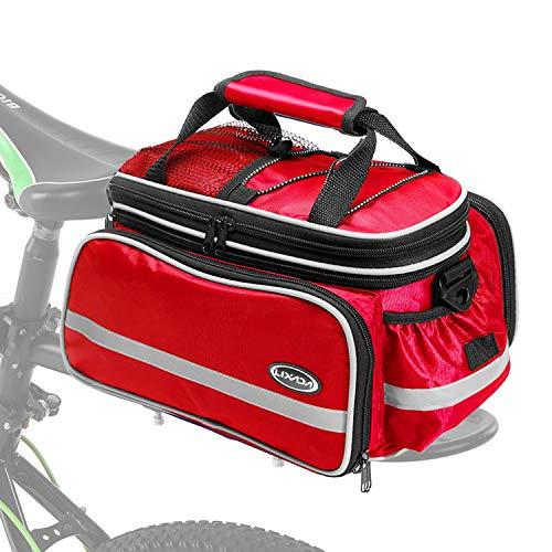 Lixa-da Radtasche, wasserdichte Fahrrad Satteltasche Gepäcktasche Gepäckträger Tasche Rucksack Seitentasche mit Regenschutzdeckel, 33 * 23 * 26 cm, 10L-25L