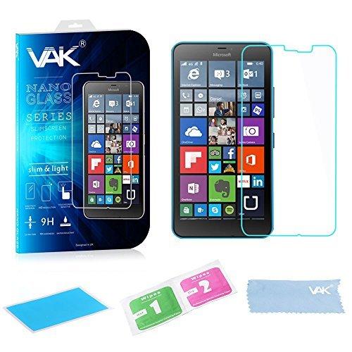 VAK Microsoft Nokia Lumia Pellicola Vetro temperato 100% Originale Schermo Proteggere per for Various Microsoft Nokia Lumia panaaz - Microsoft Lumia 640XL