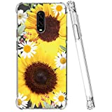Ueokeird Designed for Oneplus 6T case, One Plus 6T Cute Case, Slim Shockproof Clear Soft Flexible TPU Back Phone Case Cover for Oneplus 6T (Sunflower)