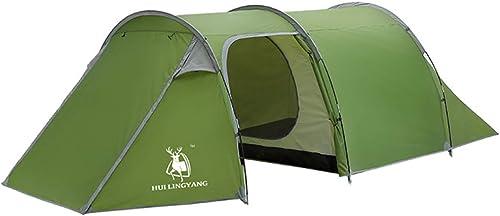 MDZH Tente Tente De Camping en Plein Air pour 4 Personnes Tente Imperméable à La Pluie pour Une Famille Et Une Chambre à Coucher Double Couche