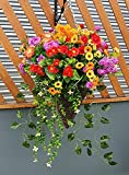 Eternal Bloom Large Cone Hanging Basket Artificial Mixed Wild Flowers