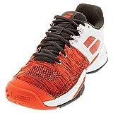 Babolat Men's Propulse Blast All Court Tennis Shoes, Cherry Tomato/White (US Size 8)
