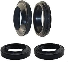 AHL Front Fork Shock Oil Seal and Dust Seal Set 41mm x 53mm x 8/10.5mm for Yamaha XVS650 V Star Custom 1998-2008