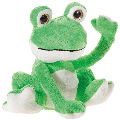 Heunec 449176 Plüschtier, Frosch, grün mit beige