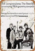ビートルズ1964グラミーズティンサイン壁鉄絵レトロプラークヴィンテージメタルシート装飾ポスターおかしいポスター吊り工芸用バーガレージカフェホーム