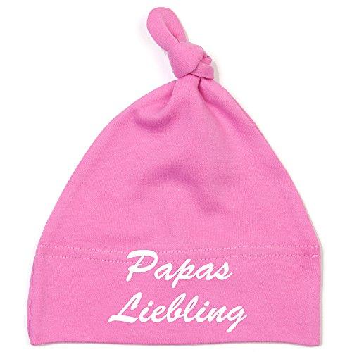 Schnoschi Babymütze in pink mit Papas Liebling hochwertig Bestickt/gestickt