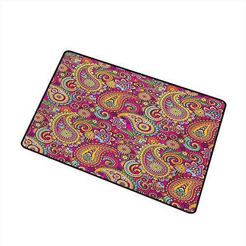 Kinhevao Paisley Universal-Fußmatte Ausgefallene authentische Paisley-Muster basierend auf traditionellem asiatischem orientalischem Kulturdesign Fußmatte Bodendekoration , Mehrfarbige Badematte