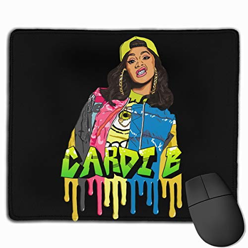 Cardi B Mouse Pad with Stitched Edge, Premium-Textured Mouse Mat 25x30cm