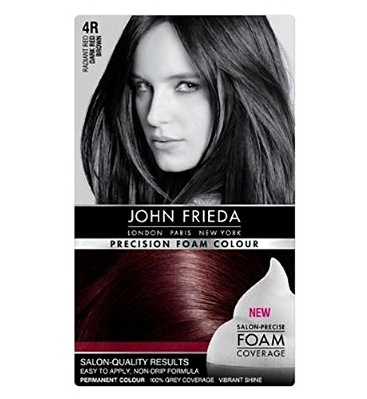 やむを得ない換気する縮約John Frieda Precision Foam Colour 4R Dark Red Brown - ジョン?フリーダ精密泡カラー4R濃い赤茶色 (John Frieda) [並行輸入品]