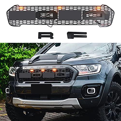 FWNT Parrilla de radiador de Coche, Parrilla de Parachoques Delantero ABS Estilo Raptor...