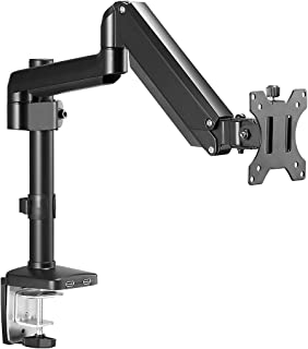 Single Monitor Stand Arm Desk LCD LED Monitor Mount Gas Spring 360 Degree Rotation Adjustable Arm Desk Mount Fit 1 Screen ...