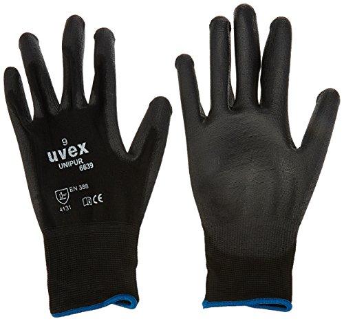 Uvex 602489Unipur 6639Sicherheit Handschuh, Größe: 9, Schwarz