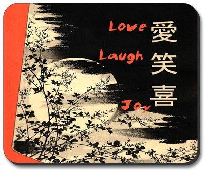 Liebe, Lachen, Freude - Mauspad