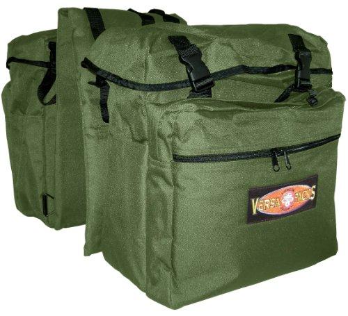 MiracleCorp Products Hamilton Versa-Packs Equine Back Pack/Saddle Bag, Green