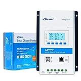 EPEVER MPPT Solar Charge Controller 40A 12V/24V Auto Solar Panel Charge Regulator Intelligent