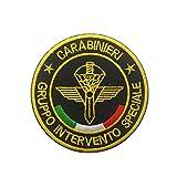 Parche de la Policía Nacional de Italia, equipo táctico militar bordado moral coser emblema insignias apliques para abrigo, chaqueta, gorro, mochila (Italia)