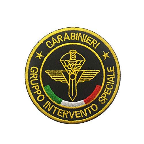 Parche de la Policía Nacional de la Bandera de Italia Equipo Táctico Militar Bordado