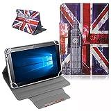 UC-Express Schutz Tasche für Odys Score Plus 3G - Odys Rise 10 Hülle Tablet Schutzhülle Cover Hülle Bag UK Flagge Etui