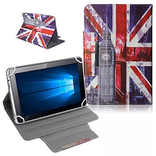 UC-Express Schutz Tasche für Odys Score Plus 3G - Odys Rise 10 Hülle Tablet Schutzhülle Cover Case Bag UK Flagge Etui