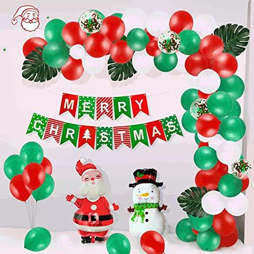 Christmas Party Luftballons, 100Pcs kreative Szene Arrangement Sequined Ballon Set, Geburtstag, Weihnachten Party, Urlaub, Hochzeit Dekorationen