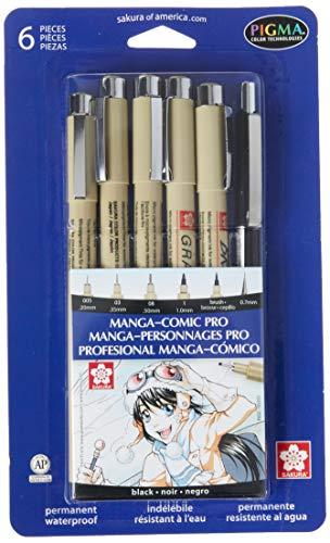 Drawing Set, Manga-Pro, Non-Toxic, Black, Sold as 1 Set