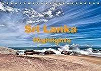 Sri Lanka - Highlights (Tischkalender 2022 DIN A5 quer): die Hoehepunkte einer Sri Lanka Rundreise (Monatskalender, 14 Seiten )