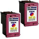 2 XL Druckerpatronn refill für HP 901xl color Officejet J 4524, J 4500, J 4600, J 4624, J 4660, J 4680
